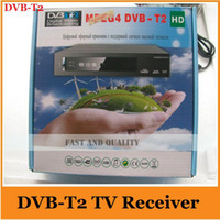 Digital Yes Yes Wholesale-Free shipping ,Support Russia menu High Definition DVB-T2 Digital Terrestrial TV Receiver MPEG2 MPEG4 H.264 DVB T2 USB HDMI