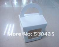 Wholesale Hot pvc window cake box with Round Handle Party Cupcake Boxes