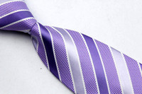 Wholesale NT0008 PINK PURPLE STRIPED BRAND NEW MEN S FASHION CASUAL BUSINESS NECKTIE JACQUARD WOVEN SILK POLYESTER TIES FOR MEN