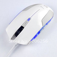 1600 Wired 3D Wholesale-Wholesale - Best selling E-3LUE White Cobra Speed USB Gaming Mouse 5D Cobra White Special Edition Blu-ray Mice free shipping