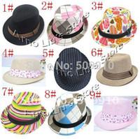 Cheap Unisex top hats Best Summer Crochet Hats fedora hat