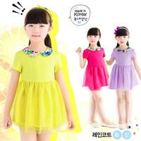 TuTu Summer other China Wholesale Fashion 2014 Sweet Princess Dress Girls Short Sleeve Dress Children Dress in Summer Kids