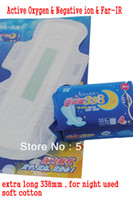 Wholesale female anion sanitary napkin night use packs sanitary towel for night used extra long mm