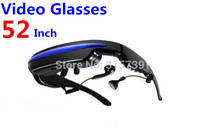 Wholesale Mobile Theatre Video Glasses Movies on Inch Virtual Screen EyeWear Video Glasses With Built in gb memory black With box J