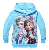Wholesale 2014New Arrival Hot Children s Wear Sweater Snow quot Frozen Girl Hoodies Children Sweater Hoodie mo9l