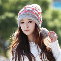 Wholesale Korean version of the influx of cute winter fashion winter days knitting wool cap hat lady new winter hats a14
