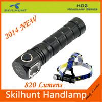 Wholesale Skilhunt H02 led flashlight with cree XM L2 led light lumen as table lamp and headlamp lights headband