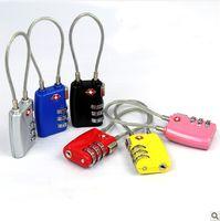 Wholesale 1 piece Travel goods abroad travel suitcase lock TSA719 Jia Site customs theft three rope locks