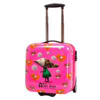Wholesale High quality inch authentic Korean cartoon cute children trolley caster board chassis suitcase picture business box box