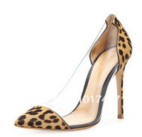 Wholesale new Gianvito Rossi heels multicolor stitching transparent election