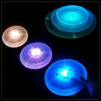 Wholesale 10 piece Red diamond deals spread the supply of children s creative educational toys luminous flying saucer UFO Frisbee parent child inter