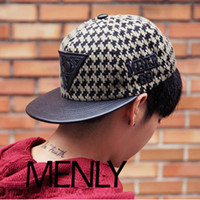 Wholesale 2014 triangle labeled flat brimmed cap hip hop baseball hat brand casual snapback for women men