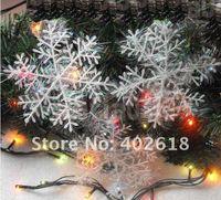Wholesale Christmas Tree Decoration Silver Wire Snowflake Christmas Tree Exquisite Pendant cm