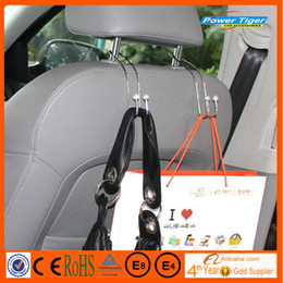 Wholesale Metal Car Coat Hanger Auto Seat Headrest Clothes Jackets Suits Holder Visor Accessories bag Organizer Holder Hook Hanger