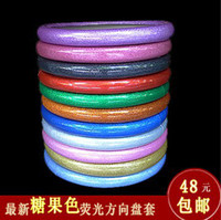 Wholesale Hot sale candy car steering wheel cover pvc four seasons slip resistant sets the direction leather cover handle