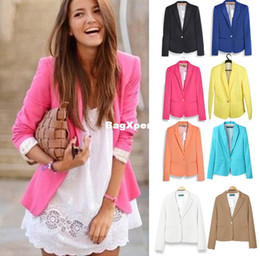 Wholesale 2015 Boys Tuxedo Fashion Jacket Blazer Women Suit Foldable Long Sleeves Lapel Coat Lined with Striped Single Button Vogue Blazers Jackets Xl