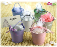 Wholesale New arrival Tin Favor Pails offer matching Yarn Bag as free gift wedding candy box