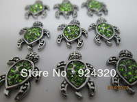 Cheap Wholesale-2015 New charm for living glass floating locket, green turtle