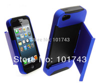 For Apple iPhone Metal Yes Free shipping Plastic + Silicone layers drawer credit card holder stand case cover For iPhone 5 5S,phone cases for iPhone 5G