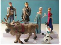Wholesale 1000pc Frozen Anna Elsa Hans Sven Olaf PVC Action Figures Toys Classic Toys Top Quality Hot Sale Z347