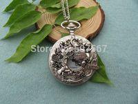 achat en gros de collier pendentif grande pour les hommes-grand argent gros Alice in Wonderland Montre de poche collier cadeau de bijoux Pendentif hommes