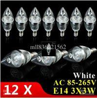 Wholesale 5x Bulbs promotional v110vE14 E12 E273X3W9W warm white cool white natural white LED Candle Light