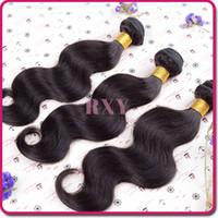 Wholesale brazilian body wave cheap brazilian hair brazilian virgin hair extension quot quot inch human hair weave