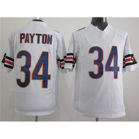 Football Men Short #34 Walter Payton White Game Football Jerseys for Men 2014 New Arrival American Football All Teams Jersey High Quality Cheap Stitched Jersey
