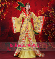 asia drama - The new costume fairy princess Han Chinese clothing chaise mounted tail mounted television drama queen clothes costume stage costumes
