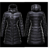Wholesale 2014 Winter Women sWhite Duck Down Parkas Single Breasted Hooded Warm Thick Long Sleeve Zipper Female Casual Long Coats M002