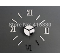 Wholesale Free shopping D DIY Funy wall clock Home Modern Decoration Mirror Living Room