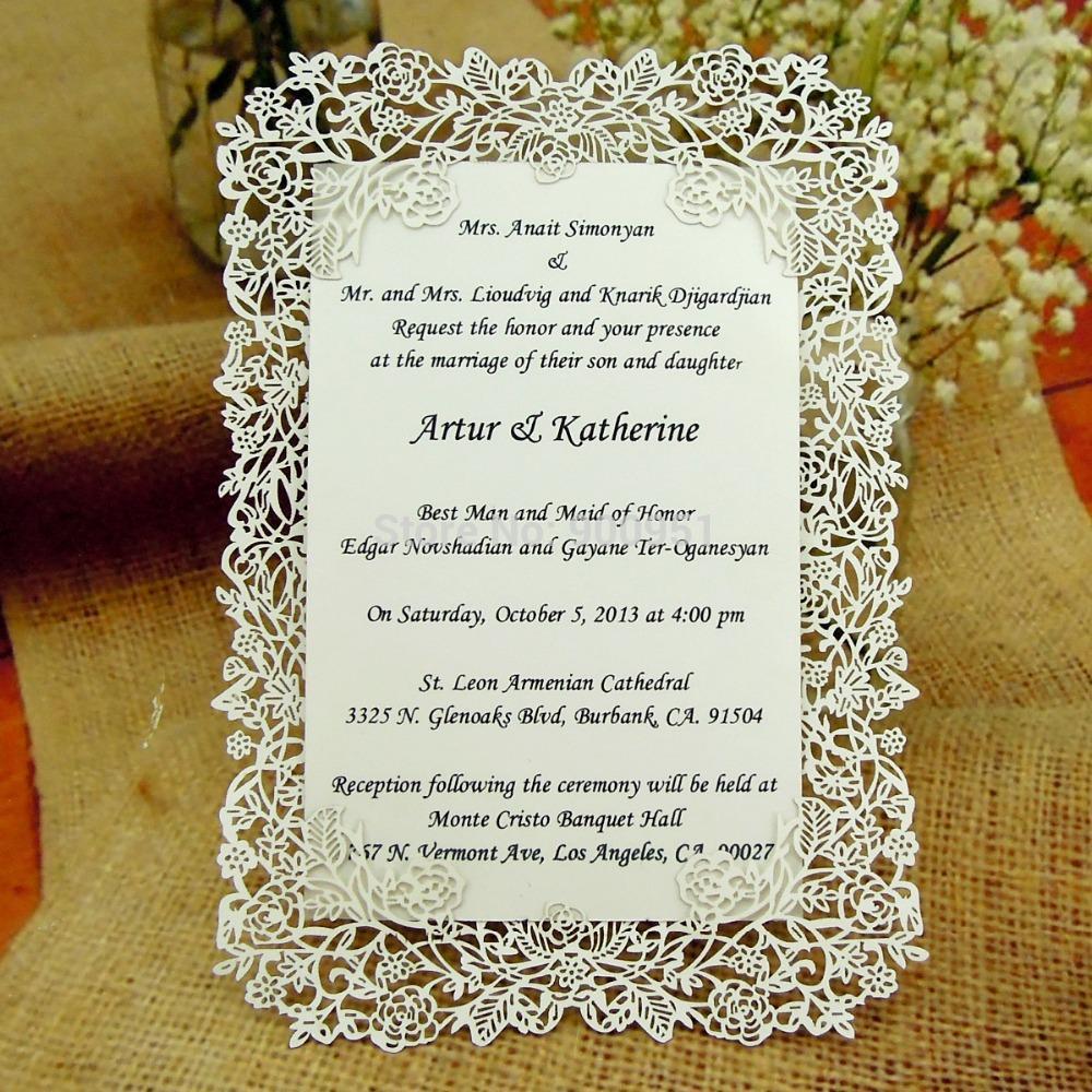 Cheap Wedding Invitation Wholesalelaser Cut Rose Vine Wedding – Cheap Invitations Cards