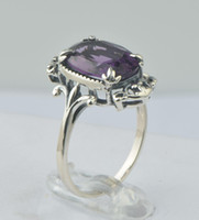 Wholesale 925 solid silver tide restoring ancient ways in Europe and America charm amethyst gemstone ring Bohemian style