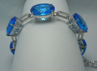 Asian & East Indian out of - Avoid shipping costs popular Victorian egg shaped hollow out of the blue topaz carve silver bracelet