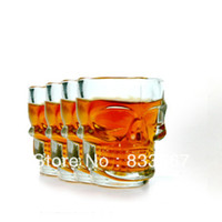 Wholesale Skull Head Vodka Shot Wine Glass Drinking Cup Crystal Barware Ounces ml IA358