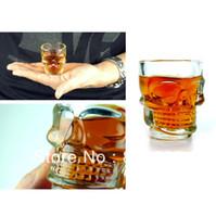 Wholesale Skull Head Vodka Shot Wine Glass Drinking Cup Crystal Barware Ounces ml IA358