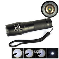 Wholesale UltraFire Cree LED Flashlight Cree XM L T6 LED Lumens Zoomable Flash Light for AAA Torch Light Lamps
