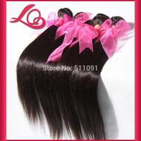 Wholesale Top Quality Brazilian Beauty Hair A Brazilian Virgin Hair Straight Extension Human Hair Weaves