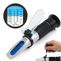 Wholesale New Practical Aluminum Salinity Refractometer For Aquarium Fish Tank Hydrometer dandys