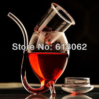 Wholesale New arrival creative glass Vamipre sucking wine cup Vampire juice cup support dropping shipping