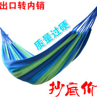 Cheap Free shipping 2015 brand new thick canvas hammock indoor garden swing outdoor camping beach tourism 190*80cm hammocks