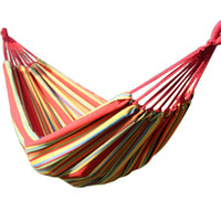 Cheap Free shipping 2015 brand new thickening double canvas outdoor tourism beach hammock camping hammocks garden swing 200*150cm
