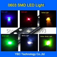 Wholesale colorx20pcs Brand New LED SMD Ultra Bright Red Green Blue White Yellow Orange Jade Green LED Diode