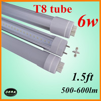 Cheap Wholesale-free shiping T8 led tube 45cm led tube 6w 85-265v G13 light bulb 1.5ft 500-600lm led fluorescent lamp warm white EMC&CE