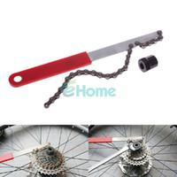 Wholesale Bicycle Bike Cycling HG Freewheel COG Remover Chain Whip Spanner w Socket New dandys