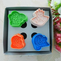 Wholesale 4X D Snow White Cookie Cutter Fondant Cake Sugarcraft Sushi Cartoon Mold