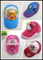 Wholesale New Cotton Cartoon Baseball Caps cm adjustable RETAIL many colors to choose Peppa Kitty Min nie Tinkerbell