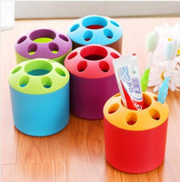 Wholesale Lazy creative home supplies daily necessities couple porous toothpaste toothbrush holder Yiwu Small Commodities