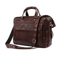 Wholesale Hight Quality Brown Genuine Leather Men Portfolio Briefcase Laptop Bag Messenger Handbag C