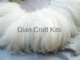 300pcs approx. natural white rooster feathers , bulk, lot, wholesale, feather supply, hair extensions, long feather 3
